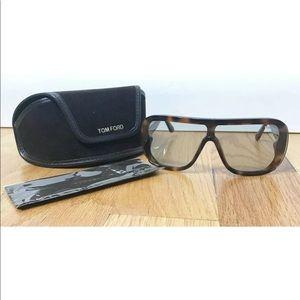Tom Ford Porfirio Dark Havana Shield Sunglasses